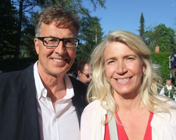 Ambassador Mona Elisabeth Brother, with her husband, Asmund Baklien